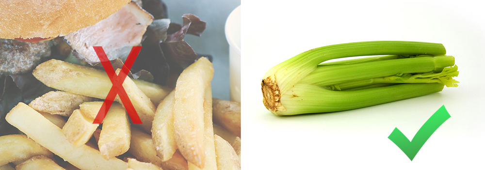 french fries versus celery