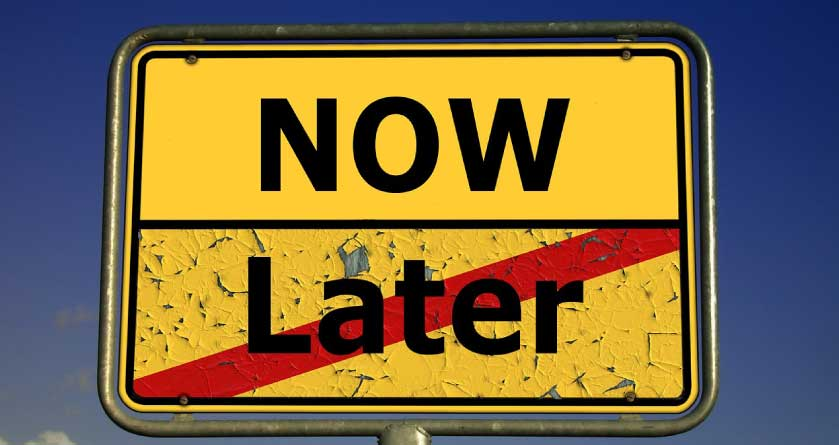 now and later sign